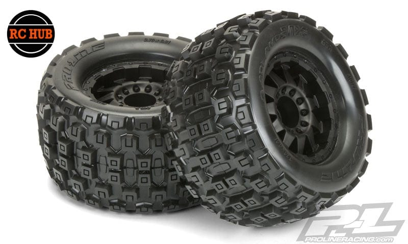 rc-hub-pro-line-badlands-mx38-3-8-traxxas-style-bead-all-terrain-tires-mounted-2