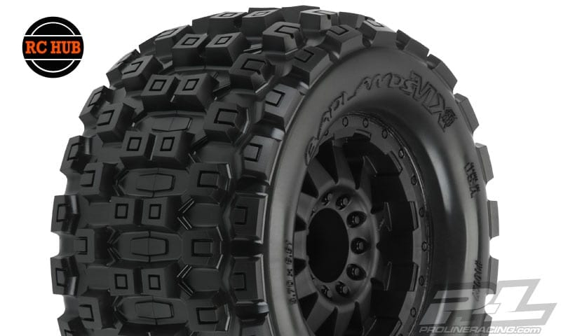 rc-hub-pro-line-badlands-mx38-3-8-traxxas-style-bead-all-terrain-tires-mounted-5