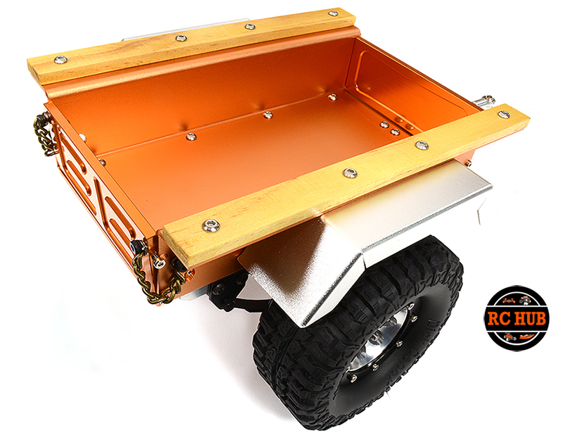 Leaf Spring 1/10 Size Utility Box Trailer for Scale Crawler Truck
