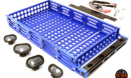 Scale Alloy Luggage Tray with 4 LED Spot Light Set
